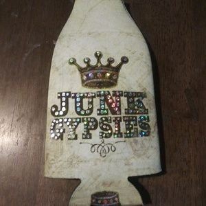 Junk Gypsy Bottle Coozie.  New